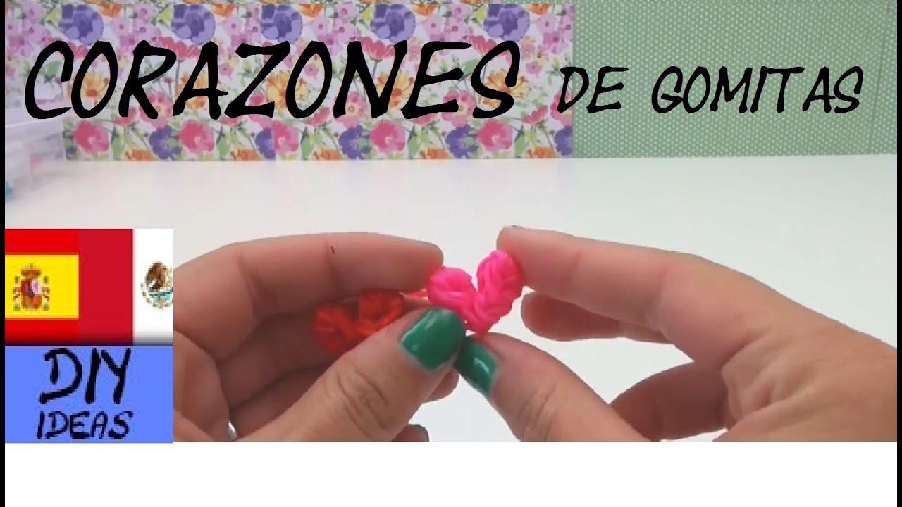 84e1e83e3749 CÓMO HACER CORAZONES DE GOMITAS - HEART CHARM - SIN TENEDOR Y SIN TELAR -  TUTORIAL EN ESPAÑOL - DIY