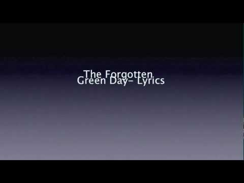 Green Day- The forgotten (Lyrics)