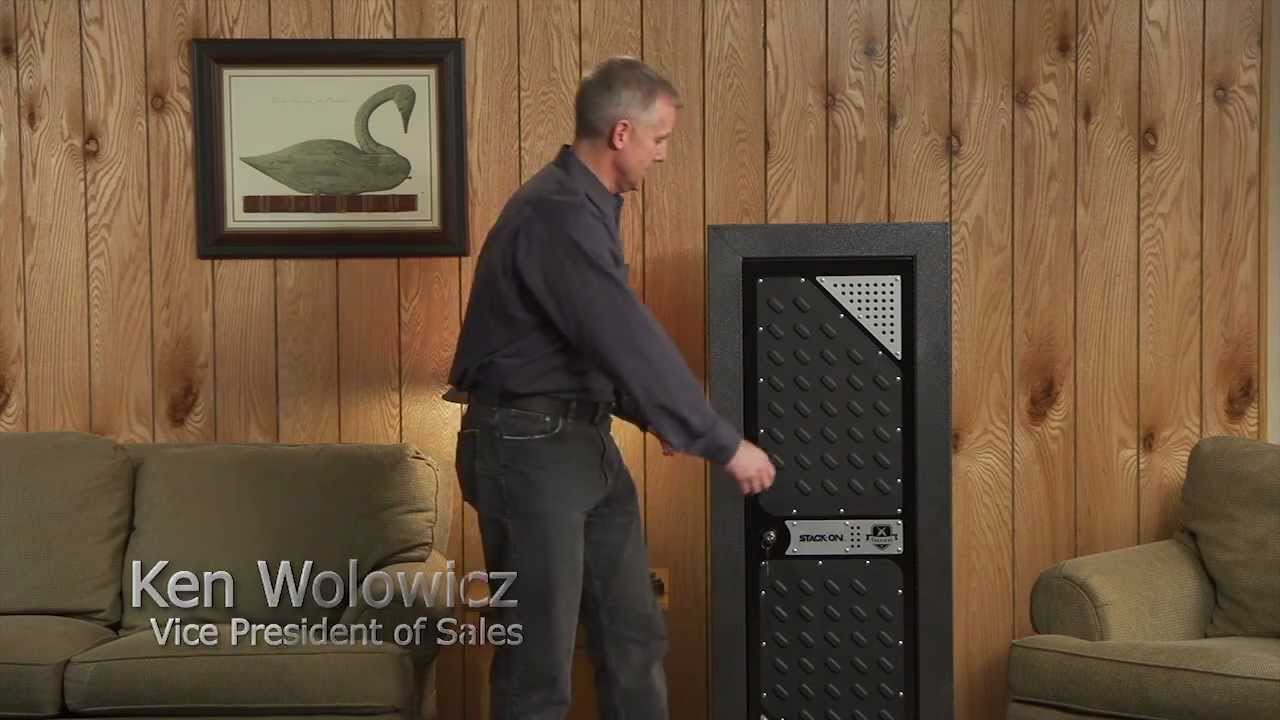 Stack-On Tactical Security Cabinet - YouTube
