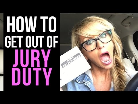 How to Get Out of Jury Duty (Things Not To Say)