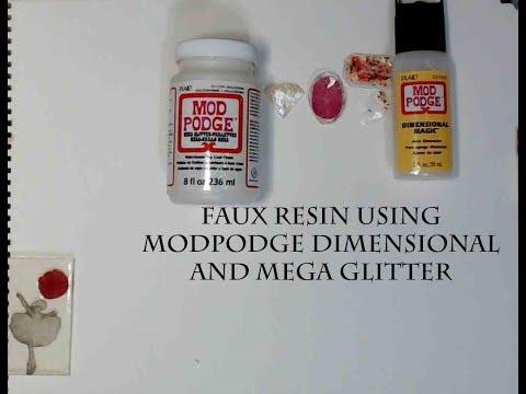 FAUX RESIN USING MOD PODGE DIMENSIONAL MAGIC AND MEGA GLITTER