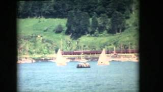 DARTMOUTH UK 1960 ARCHIVE FOOTAGE OF THE TOWN AND THE RIVER BOATS