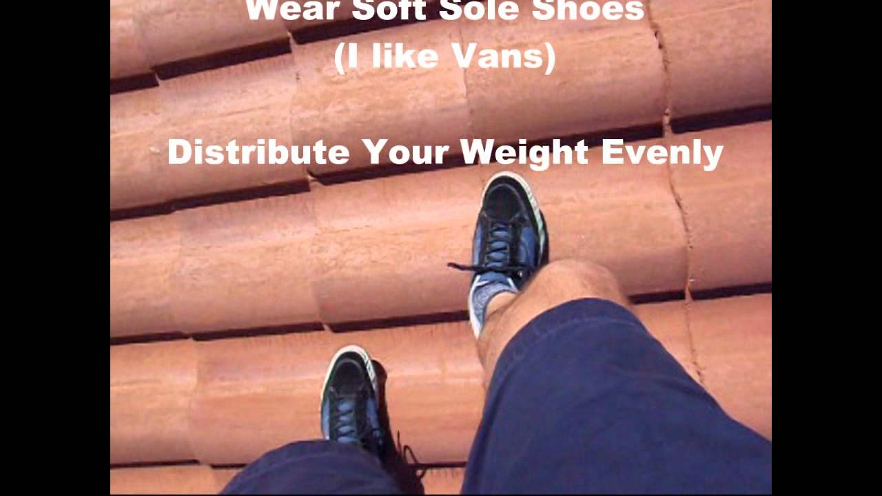 How To Walk On A Concrete Tile Roof Youtube