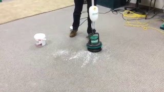 Bissell BigGreen Commercial BGEM9000 Easy Motion Floor Machine How to Clean Carpet