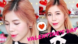 VALENTINE'S DAY PINK MAKEUP (WITH CC ENGSUB)
