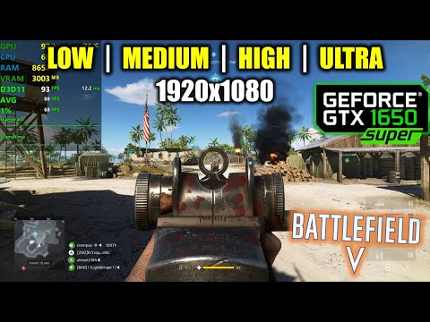 GTX 1650 Super | Battlefield 5 / V - 1080p All Settings
