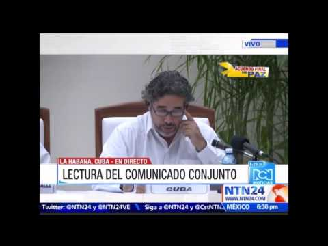 ¡Histórico! Gobierno colombiano y FARC anuncian cierre de negociaciones desde La Habana