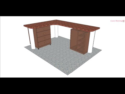 building an office desk. SketchUp Office Desk Tutorial Building An