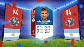 messi in a pack reacting to my biggest fifa 18 world cup packs