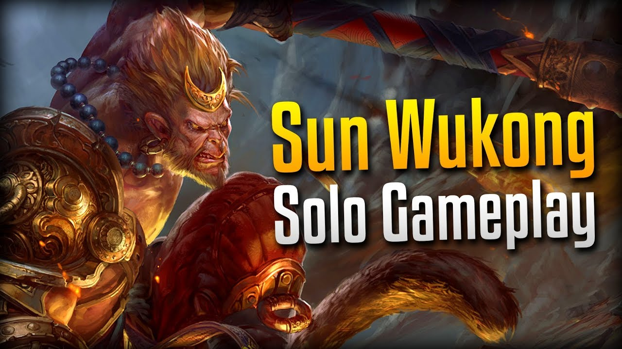 Smite: The Perfect Early Game!- Sun Wukong Solo Gameplay