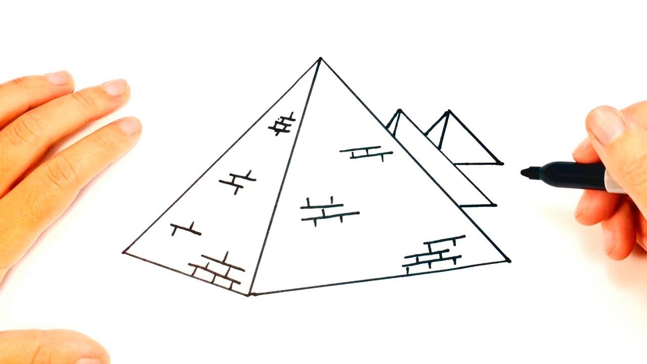 Cómo Dibujar Una Pirámide Paso A Paso
