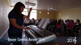 Ensayos para el concierto de Carmina Burana
