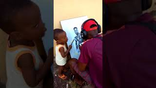Drawing of Nigerian POP star Inyanya