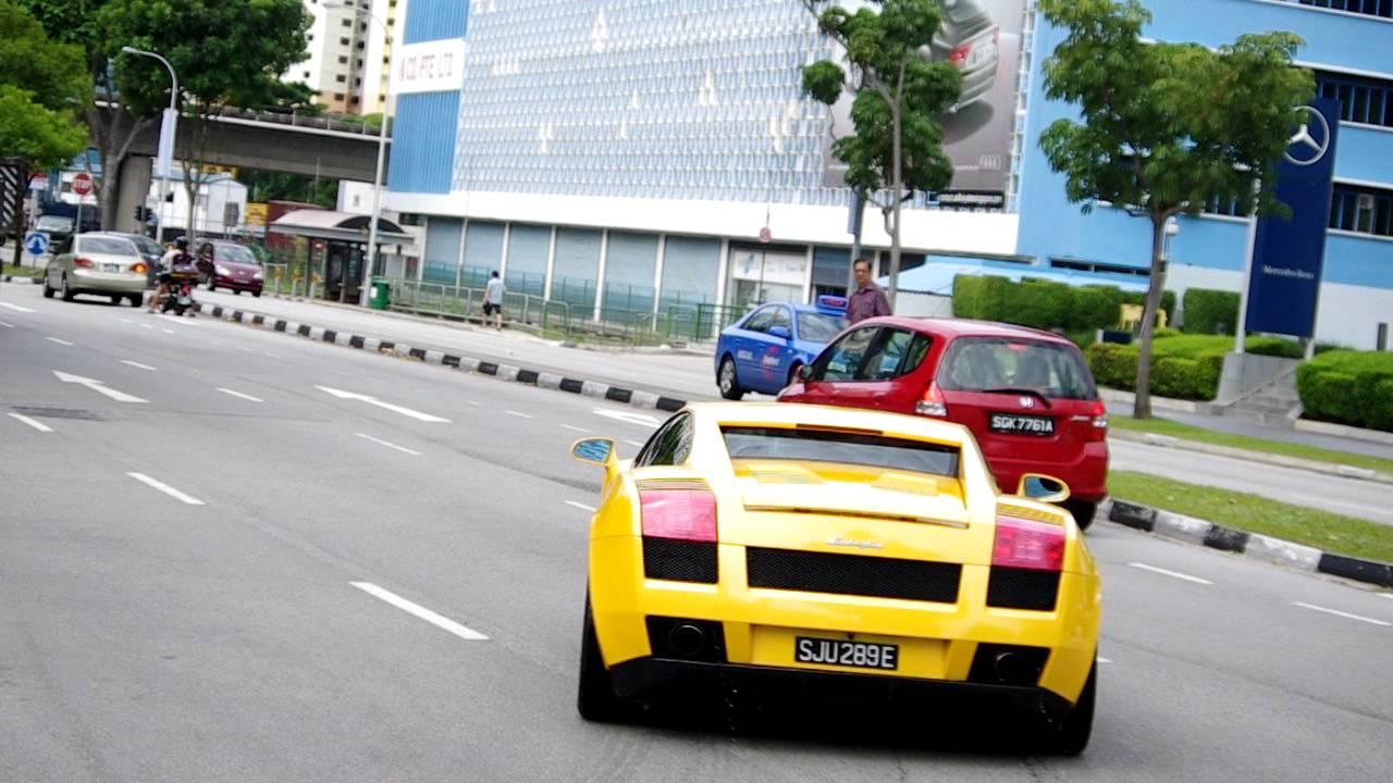 2003 Yellow Lamborghini Gallardo Acceleration :)