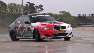 bmw m5 e60 v10 w botter exhaust trying to drift lovely sounds