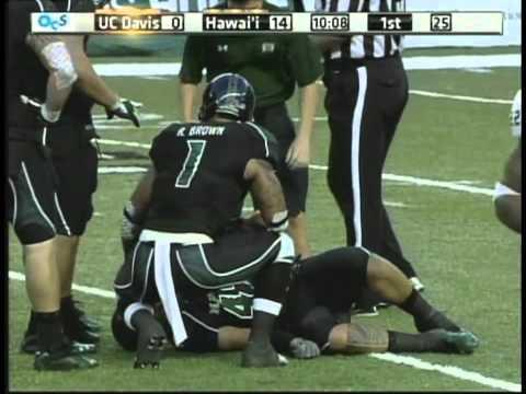 Art Laurel sacks Randy Wright UC Davis vs. Hawaii 2011