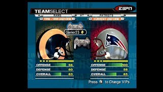 ESPN NFL 2K19 PS2 LIVE STREAM SUPER BOWL RAMS VS PATS