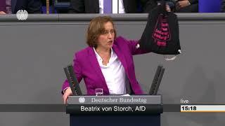 Beatrix von Storch (AfD) - SPD, Grüne und Linke sympathisieren mit gewaltbereiten Linksextremisten