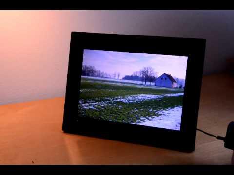 hama premium 12 1 zoll digitaler bilderrahmen im test youtube. Black Bedroom Furniture Sets. Home Design Ideas