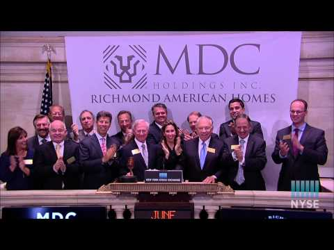 MDC Holdings Visits the NYSE to Celebrate 30th Anniversary of Listing