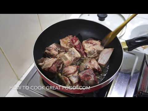 Lamb Curry Recipe - Lamb Karahi - Mutton Gosht - On the bone Masala