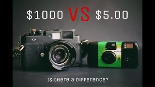 $1000 Film Camera VS $5 Disposable