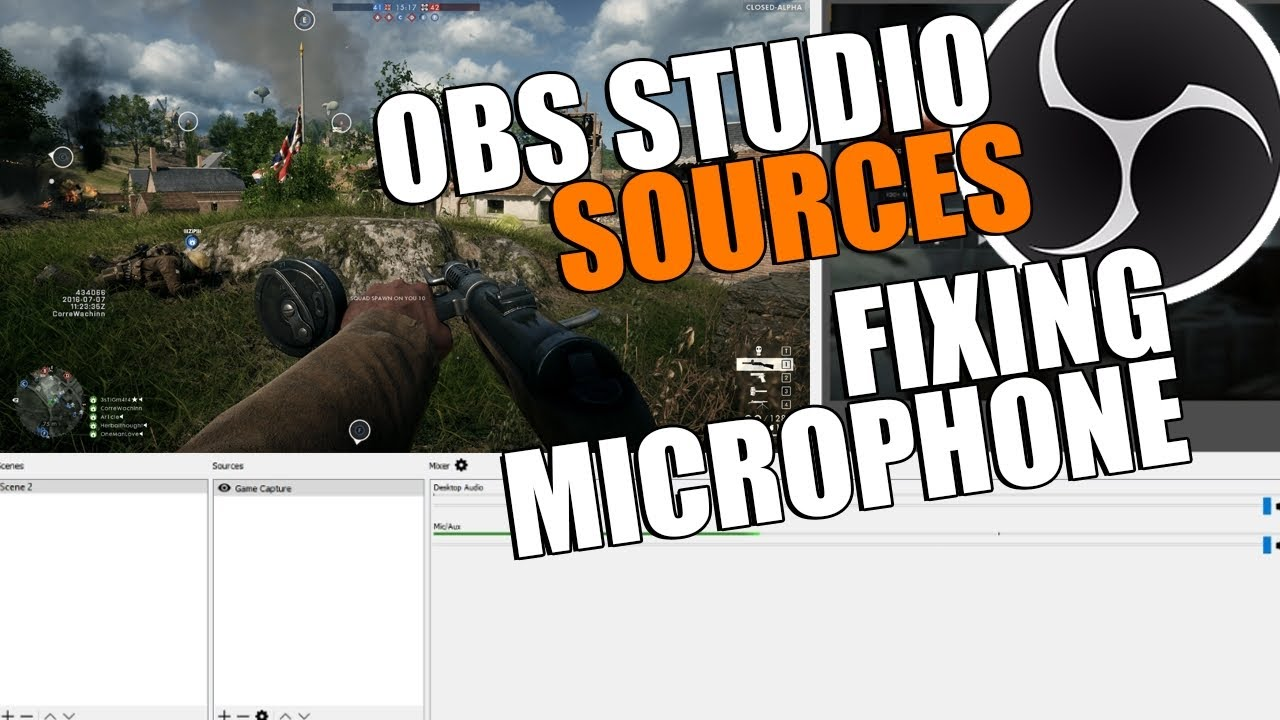 OBS Studio Tutorial Fixing Microphone No Audio | OBS Multiplatform