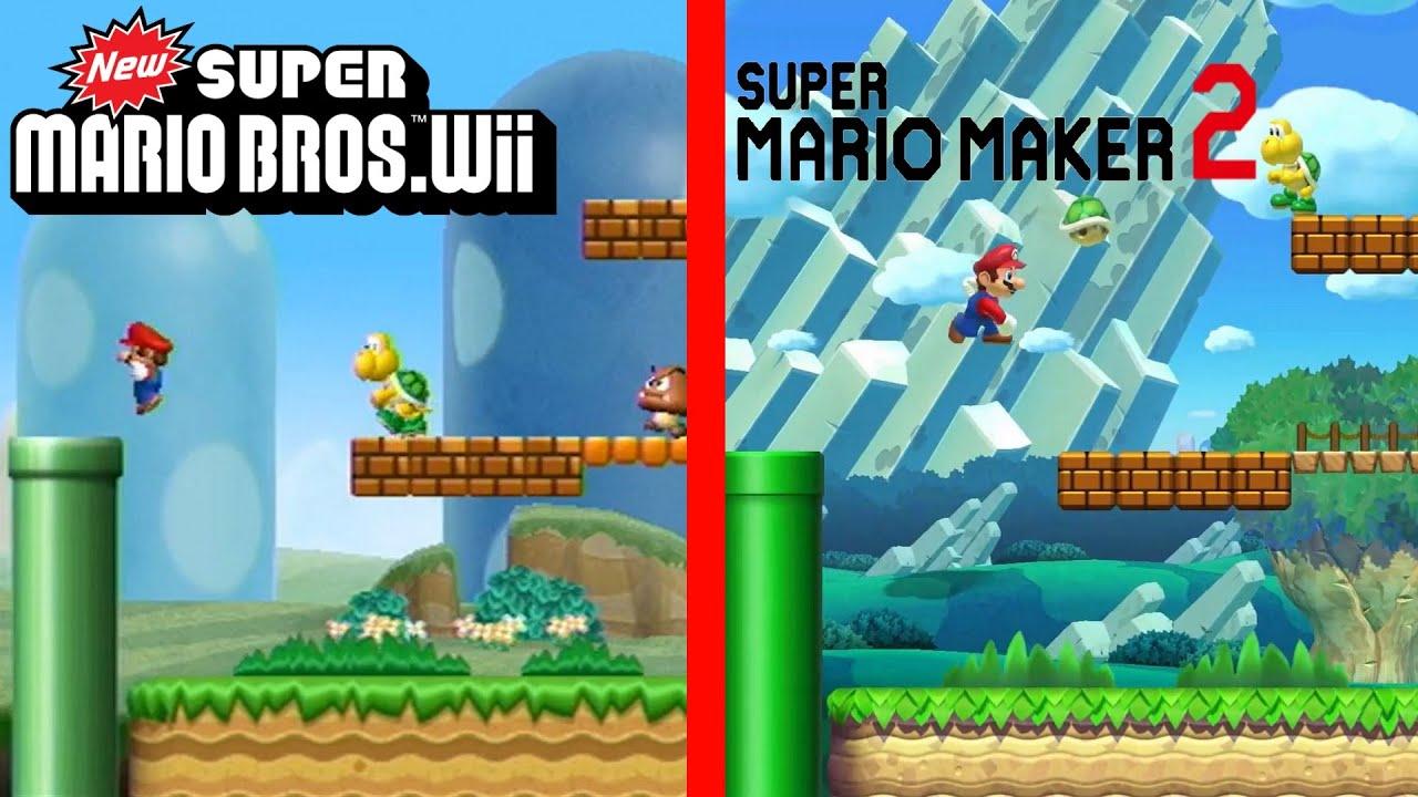 Recreating New Super Mario Bros. Wii's 1-1 in Super Mario Maker 2 (NSMBU Style) - YouTube
