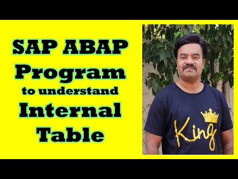 SAP ABAP Program On Internal Table