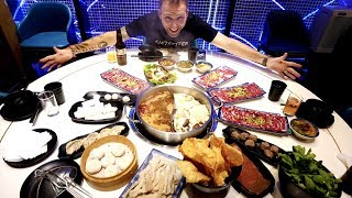 FRESH Chinese HOT POT FEAST at the Holy Cow   10 Cuts and Sauces | Shanghai, China