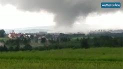 wetteronline.de: Video zeigt Tornado bei Ravensburg (14.6.2016)