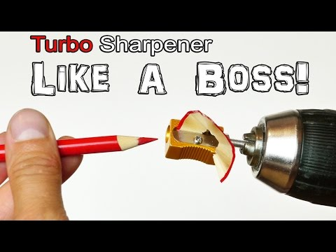 Turbo Pencil Sharpener - Life Hack