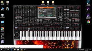 عزف دلعونا وليد سركيس على (( KORG PC )) الكمبيوتر