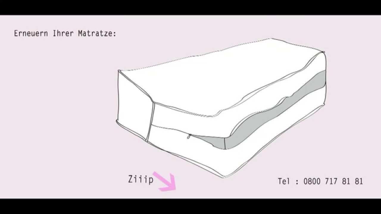matratzen bezug mit reissverschluss youtube. Black Bedroom Furniture Sets. Home Design Ideas