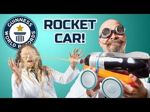 Mentos & Cola Bottle Rocket! DIY Challenge – Guinness World Records