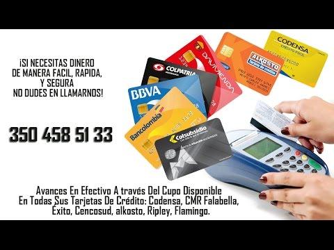 CAMBIO CUPO TARJETA DE CRÉDITO POR EFECTIVO.Contacto: 350