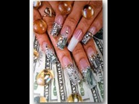 Designer nails money nail tutorial watch here youtube designer nails money nail tutorial watch here prinsesfo Images