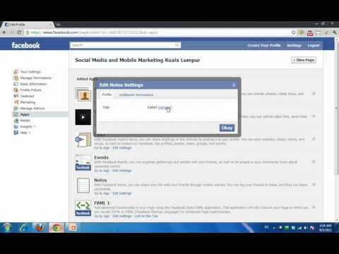 Adding Facebook Notes Tab To Facebook Pages