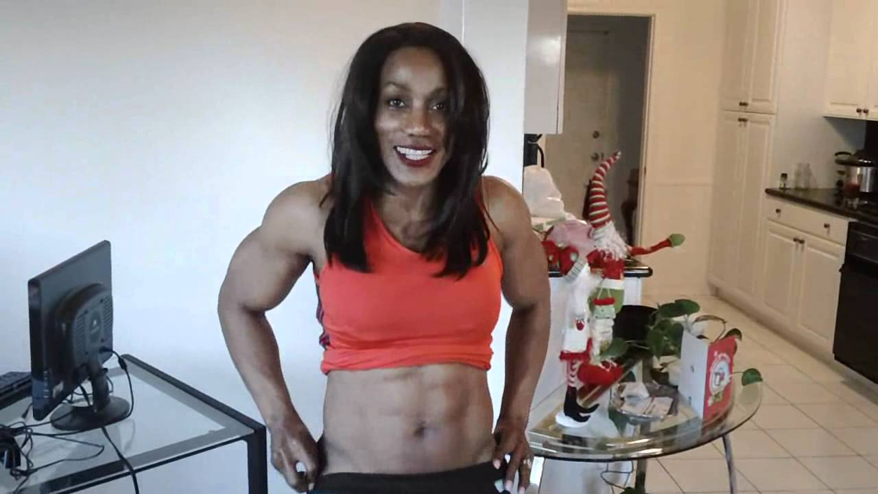 Lenda Murray, age 49 going on 50, hits the Scale - YouTube