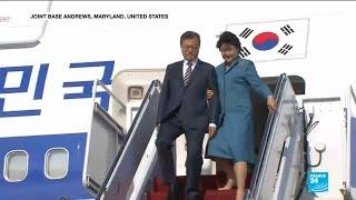 Moon Jae-In visits Washigton to discuss meeting between Trump and Kim Jong Un