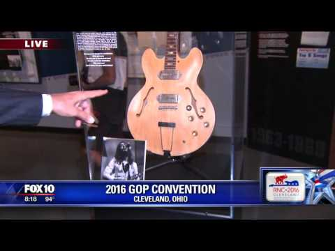 John Hook tours the Rock and Roll Hall of Fame in Cleveland