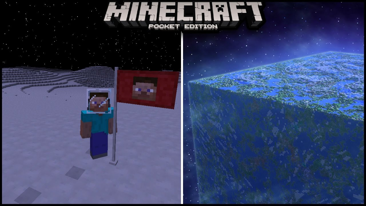 Use Command Block To Go To Space In Minecraft Pocket edition   minecraft pe  ( mcpe )   galaticcraft