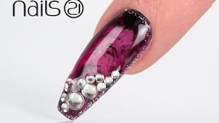 Mystical Shades Shiny Diamonds Nail Art Design (Carmo e Trindade) - Nails 21
