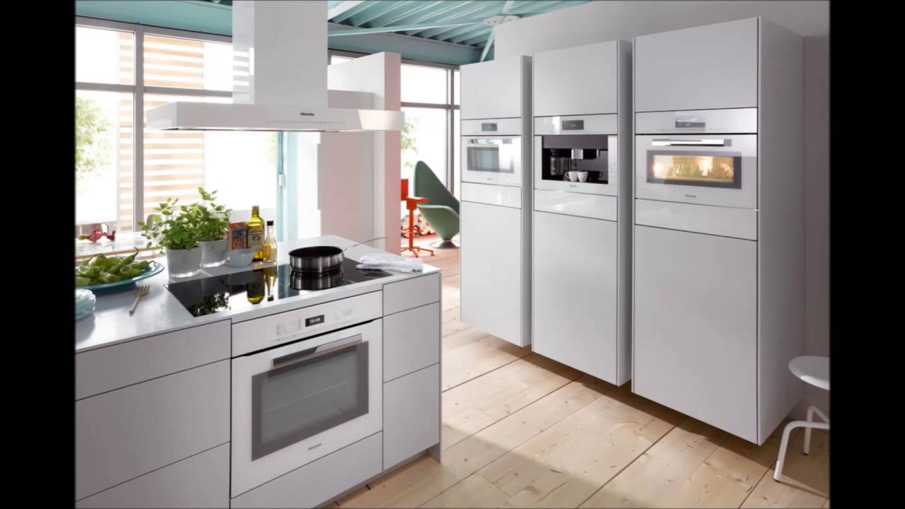 contemporary kitchen with white appliances youtube