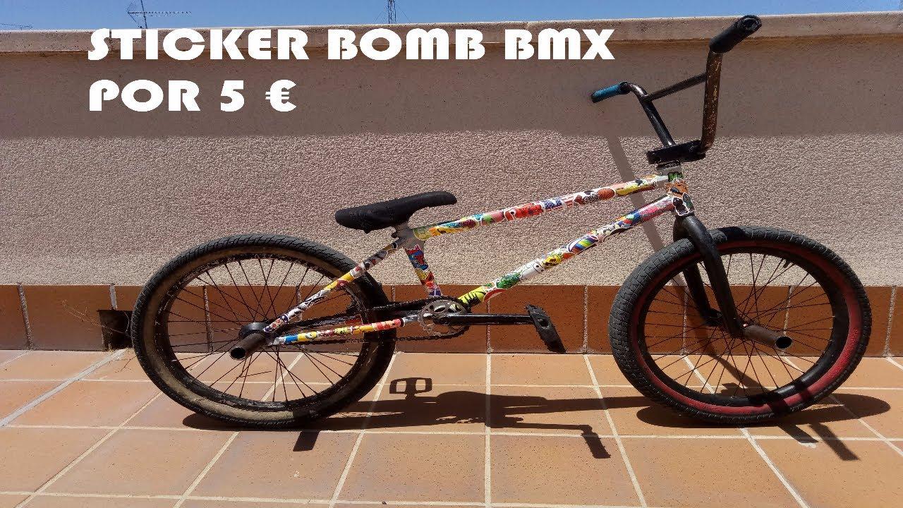 LLENO MI CUADRO DE PEGATINAS STICKER BOMB BMX YouTube - Custom bmx stickers