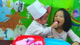 Gia Linh ăn Bim Bim uống sữa không rửa tay bị đau bụng - phần 2