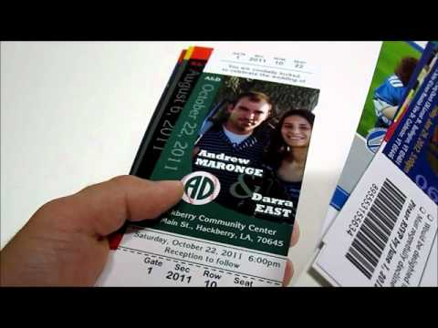 Sports Themed Ticket Invitations.wmv