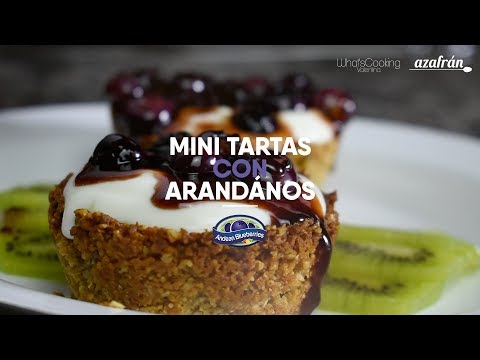 Mini tartas con arándanos