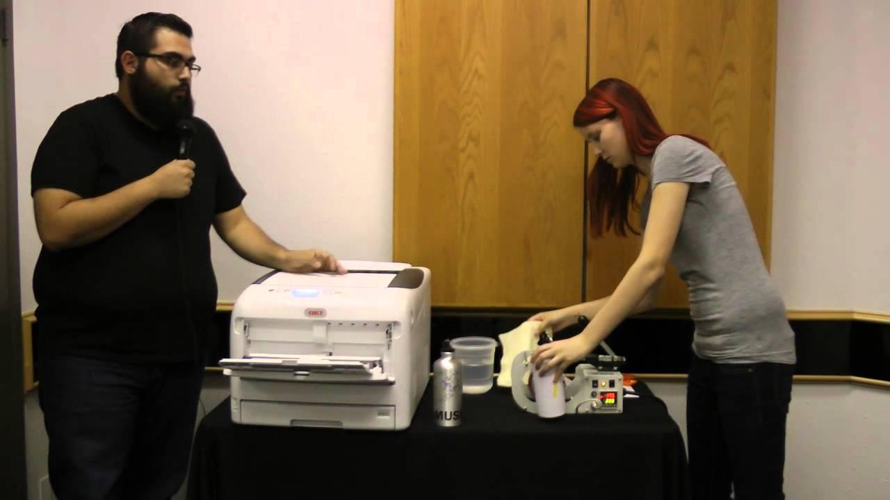 06632e4cb OKI C831-TS LED Printer -- Aluminum Bottle Heat Transfers - YouTube