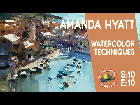 Fine art tips with watercolours with Amanda Hyatt on Colour